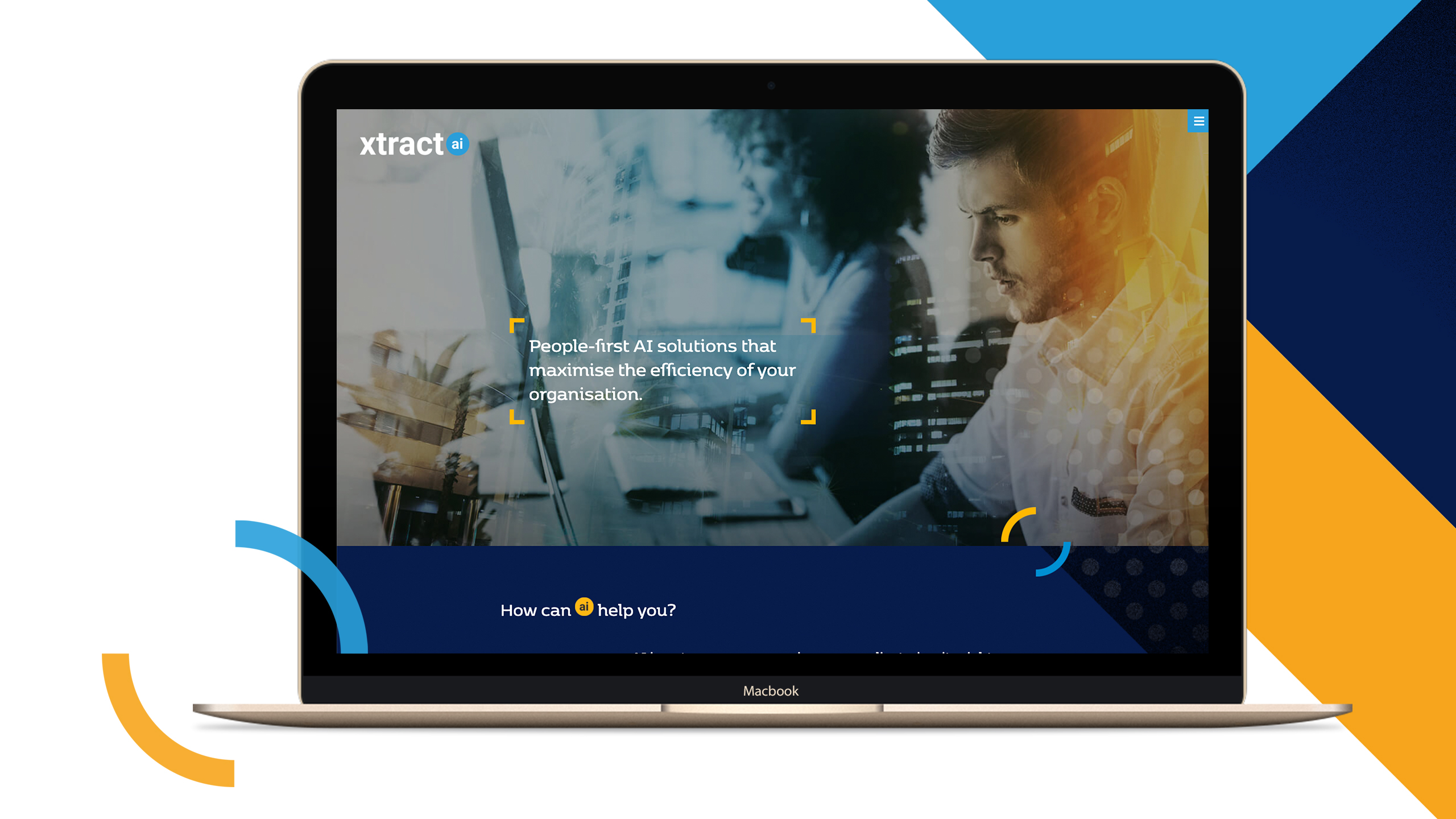 A mockup of the Xtract website depicts the new brand image.